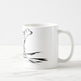 Polar bear mug - ink drawing
