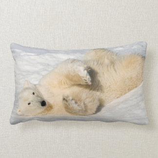 Polar Bear near Hudson Bay Lumbar Pillow
