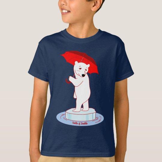 Polar Bear needs an Umbrella Doodle Art T-Shirt