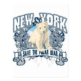 Polar Bear New York Postcard