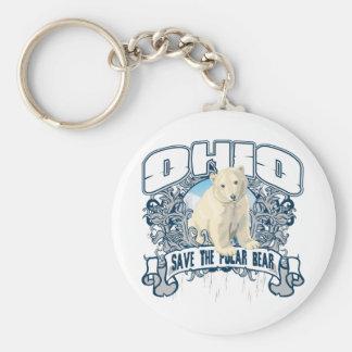 Polar Bear Ohio Key Ring