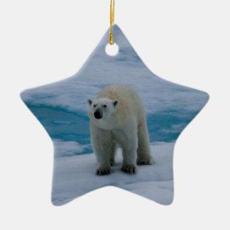 Polar Bear on pack ice Christmas Tree Ornament