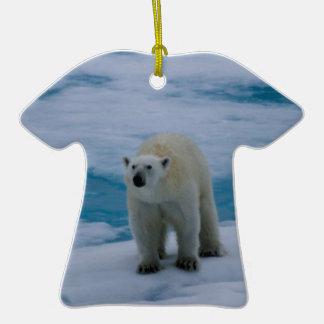 Polar Bear on pack ice Christmas Tree Ornaments