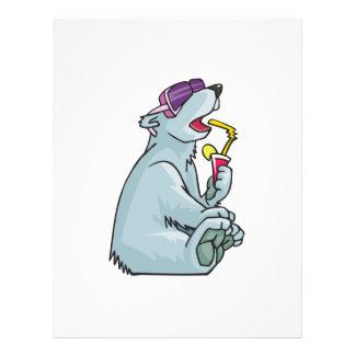 polar bear on vacation flyers