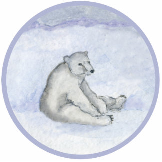 Polar Bear Ornament Photo Sculpture Decoration