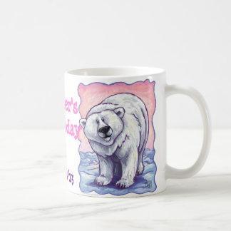 Polar Bear Party Center Basic White Mug