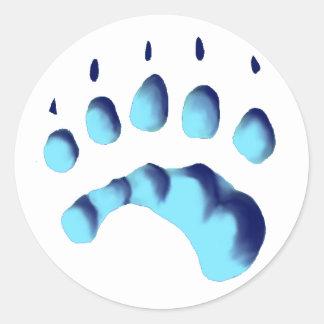 Polar Bear Paw Print Classic Round Sticker