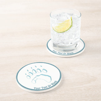 Polar Bear Paw Print Coaster