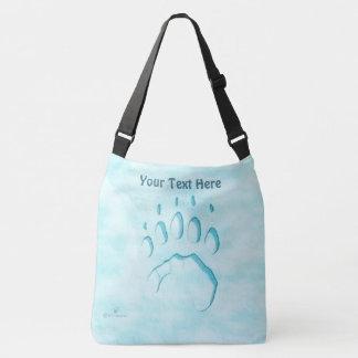 Polar Bear Paw Print Crossbody Bag