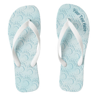 Polar Bear Paw Print Flip Flops