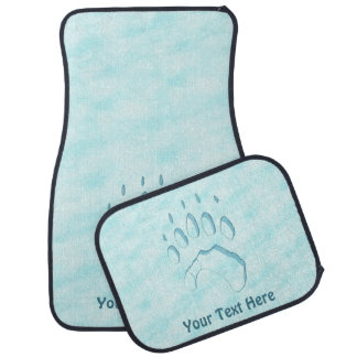 Polar Bear Paw Print Floor Mat