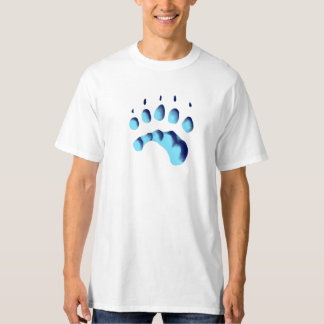 Polar Bear Paw Print T-Shirt