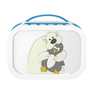 polar bear penguin hug lunch box