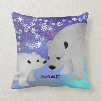 Polar Bear Personalized Throw Pillow