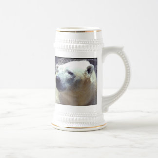 Polar Bear Photo Closeup Nikita Kansas City Zoo Beer Steins