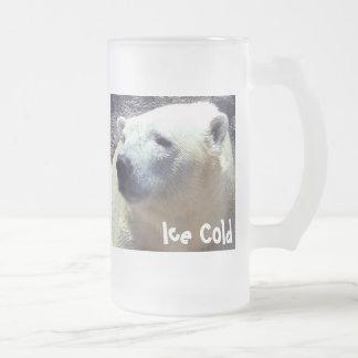 Polar Bear Photo Closeup Nikita Kansas City Zoo Frosted Glass Mug