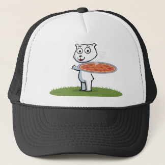 Polar Bear Pizza Trucker Hat