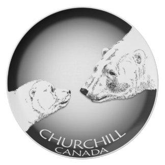 Polar Bear Plate Churchill Bear Art Plates