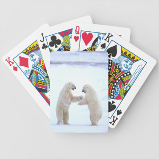Polar Bear Play Bicycle Playing Cards