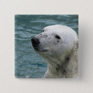 Polar Bear Profile Square Pin