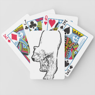 Polar Bear Prowling Bicycle Playing Cards