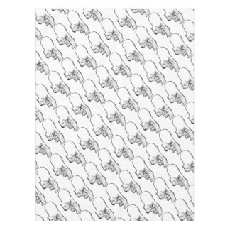 Polar Bear Prowling Tablecloth