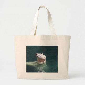 Polar bear resting large tote bag