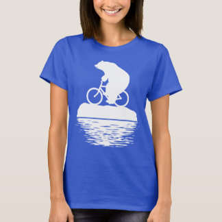 Polar Bear Riding Bike on Iceberg Women's T-shirt