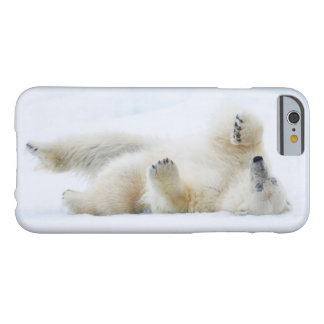 Polar bear rolling in snow, Norway Barely There iPhone 6 Case