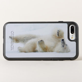 Polar bear rolling in snow, Norway OtterBox Symmetry iPhone 7 Plus Case