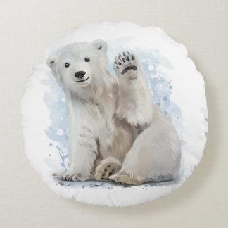 Polar bear round cushion