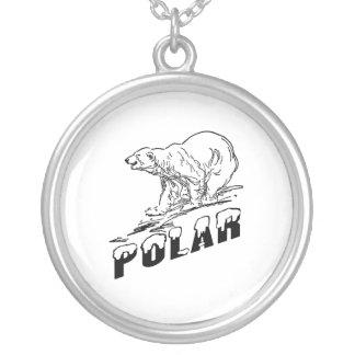 Polar Bear Round Pendant Necklace