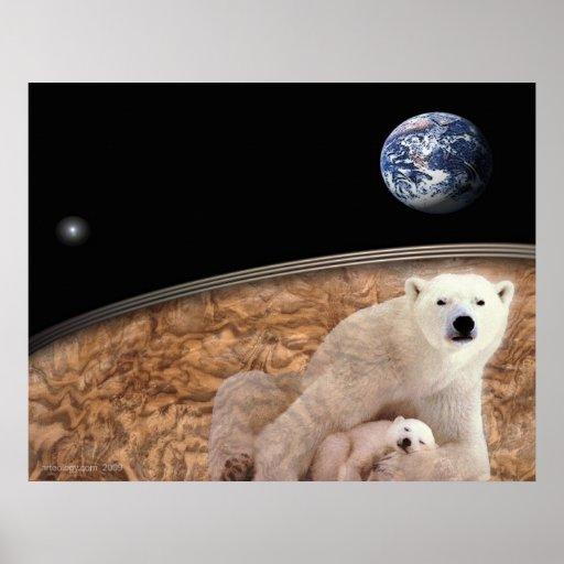 polar bear sacred earth poster