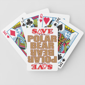 Polar Bear Save Bicycle Playing Cards