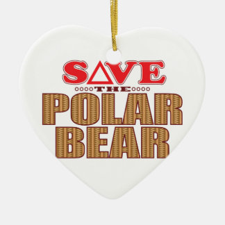 Polar Bear Save Ceramic Heart Decoration