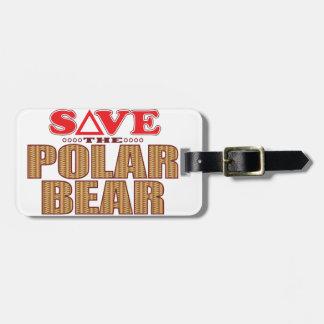 Polar Bear Save Luggage Tag