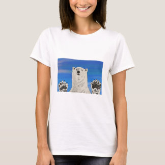 polar bear, save the arctic, women's basic T-shirt