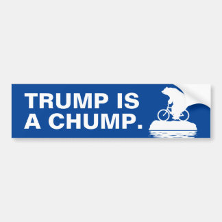"Polar Bear says ""Trump is a Chump."" Bumper Sticker"