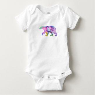 Polar Bear Silhouette Baby Onesie
