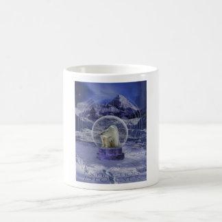 Polar Bear Snow Globe copy Basic White Mug