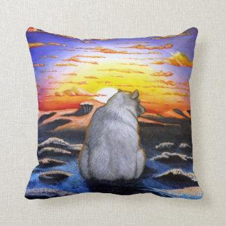 Polar Bear Sunset Cushion