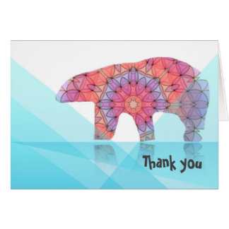 Polar Bear Thank you note Card