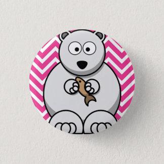 Polar bear themed 3.2cm badge