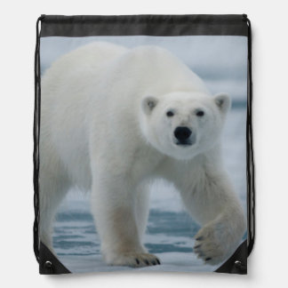 Polar Bear, Ursus Maritimus, Adult Drawstring Bag