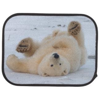 polar bear, Ursus maritimus, cub rolling 3 Floor Mat