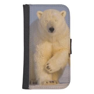 polar bear, Ursus maritimus, sow with newborn 3 Samsung S4 Wallet Case