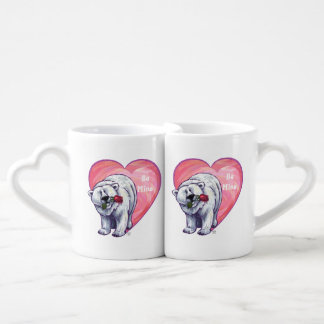 Polar Bear Valentine's Day Lovers Mug Set
