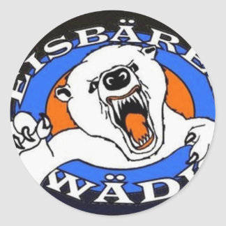 polar bear waedi.gif classic round sticker
