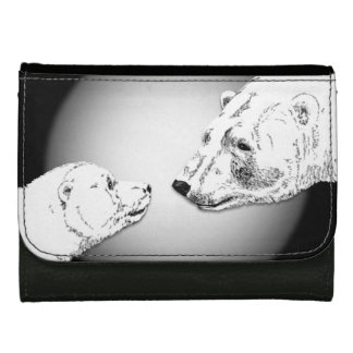 Polar Bear Wallet Baby Bears Art Wallet Gifts