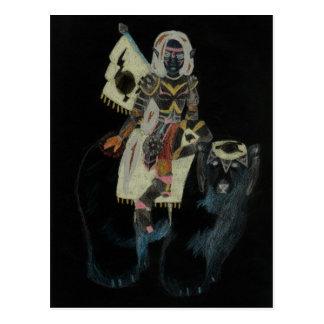 polar bear warrior princess postcard